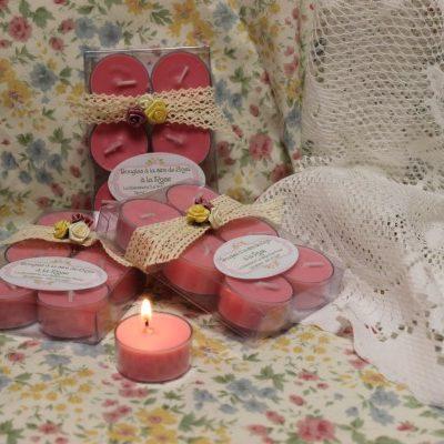 Bougies à la cire de Soya à la Rose