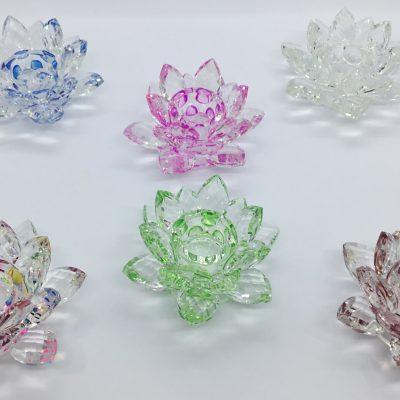 Fleurs de lotus en cristal
