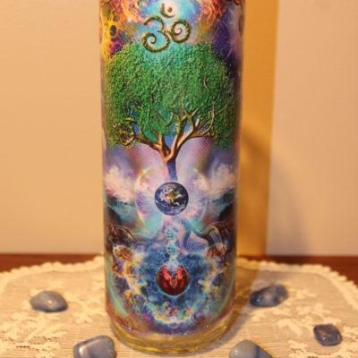 Porte lampion arbre de vie Om